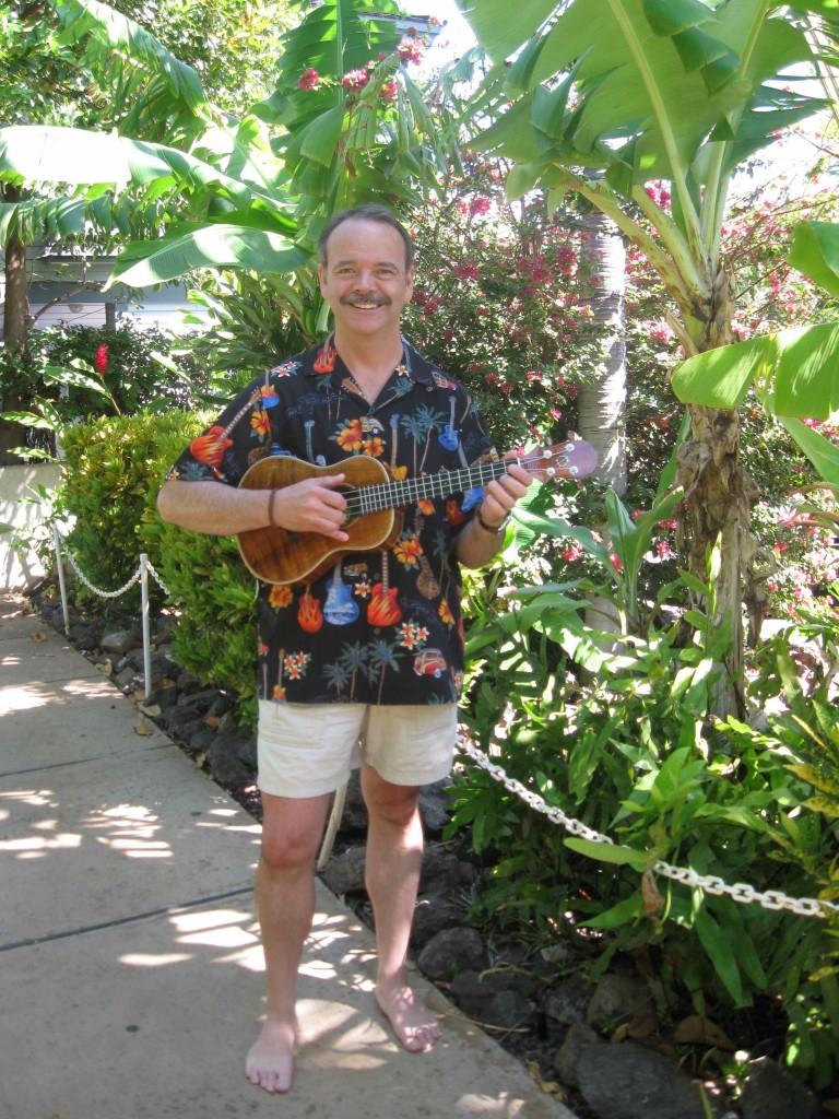 Christopher J with ukulele