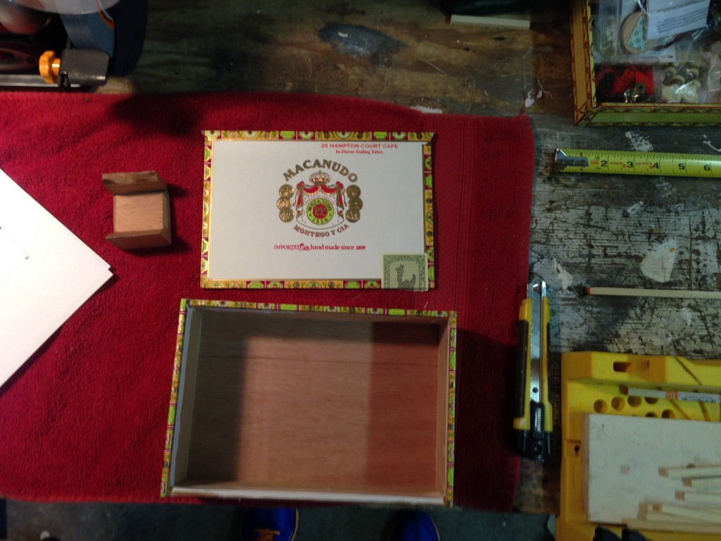 Cigar Box Top Cover Removed
