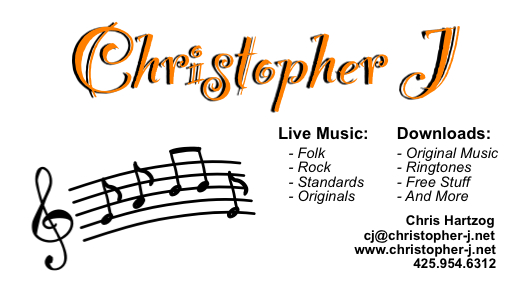Christopher J Business Card