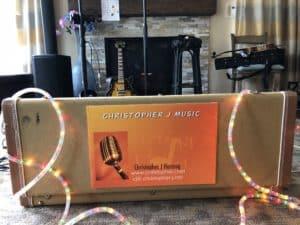 Christopher J Music Guitar Case Sign