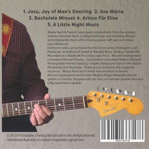 Bluesy Bach & Friends CD Back Cover
