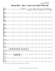 Bluesy Bach Opus 1 (Jesu Joy of Man's Desiring) - Sheet Music