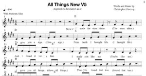 All Things New - Sheet Music