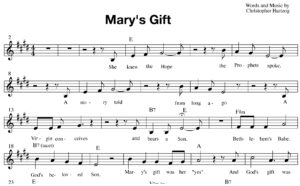 Mary's Gift (Pop version) - Sheet Music