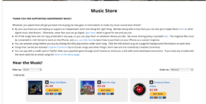 Music Store Screen Shot